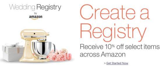 Amazon Wedding Registry 10 Percent Off