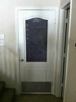 Rental Property Repairs - New Door Kick Plate