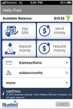 Bluebird iPhone App