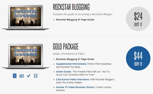 Rockstar Blogging Pricing
