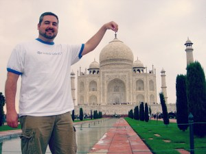 PT Money at the Taj Mahal