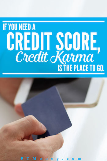 Credit Karma will give you your credit score for free. What type of score? Well, they actually show you three different scores.