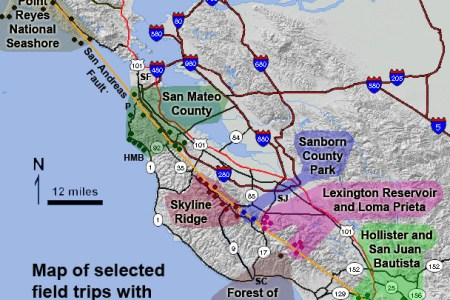 Map Of The San Andreas Fault Line - Fault lines in the us map