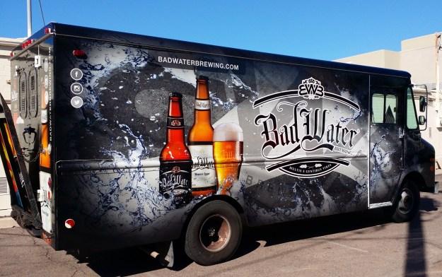 Bad Water Brewing Beer Truck