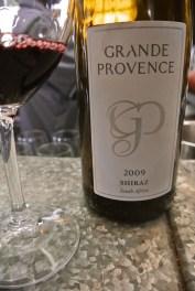 2009 Grand Provence Shiraz