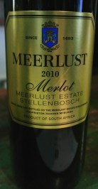 2010 Meerlust Merlot