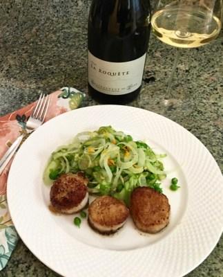 LaRoquete-Salad-and-Scallops