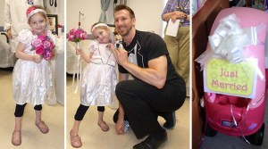 """Four-Year-Old Cancer Patient """"Marries"""" Her Favorite Nurse"""