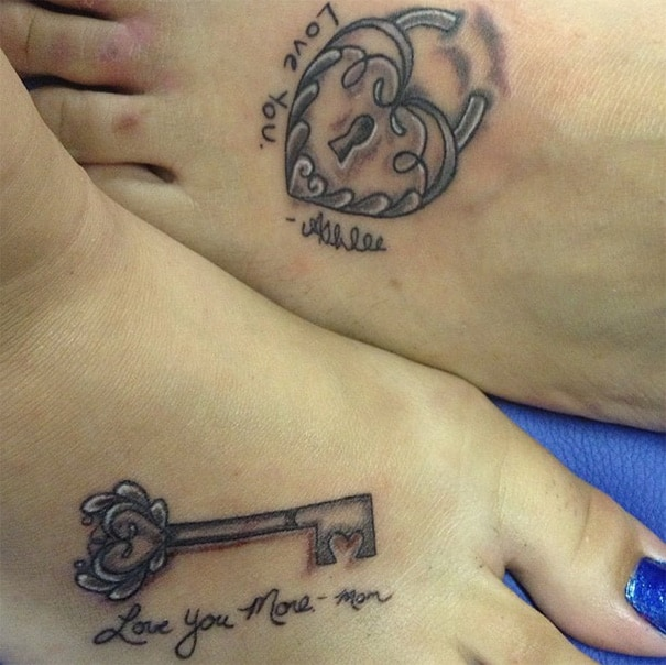 26 Awesome Mother-Daughter Tattoos To Show Their