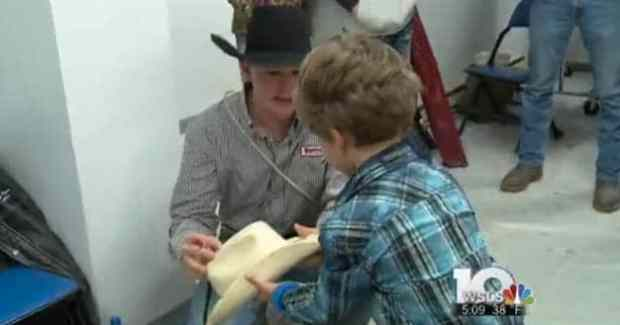 5 Years Old Boy with Incurable Brain Tumor Lives Cowboy Dreams at Rodeo Show