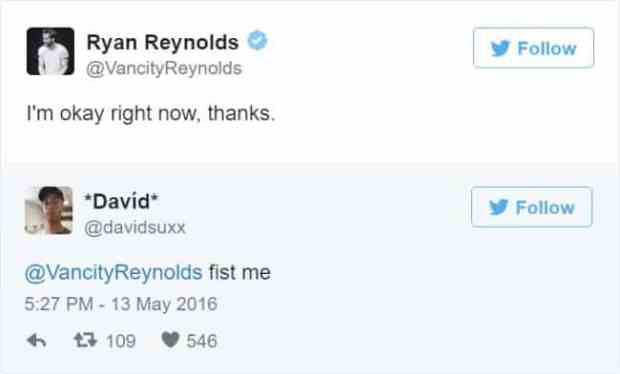 57bd1bc75e515 - Ryan Reynolds' Ãœber Polite Responses To Horny Fan Tweets Are The Funniest Thing Ever