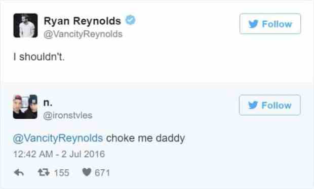 57bd1bc953caa - Ryan Reynolds' Ãœber Polite Responses To Horny Fan Tweets Are The Funniest Thing Ever