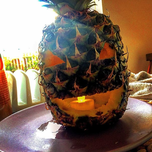 57fb3fd2243a2 - Forget Pumpkins, Pineapple Jack O' Lanterns Are The Latest Hallowe'en Trend