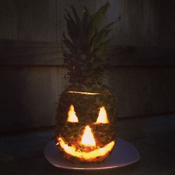 57fb3fd2701c1 - Forget Pumpkins, Pineapple Jack O' Lanterns Are The Latest Hallowe'en Trend
