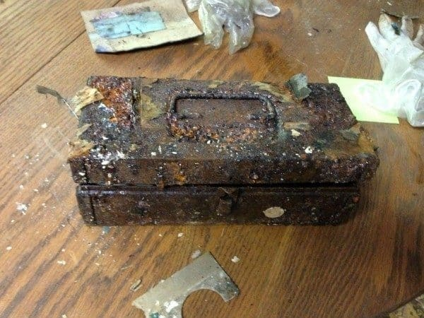 ...a rusted box. Full of tools, perhaps?