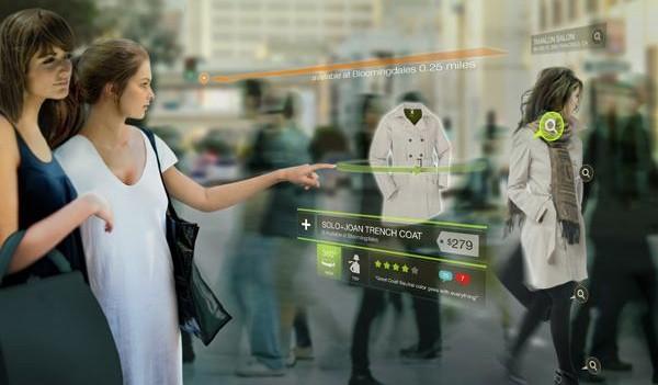 Realidad aumentada e interfaces touch. Vía fashionandmash.wordpress.com