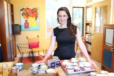 La co-founder del Local Food Lab, Krysia Zajonc, en acción