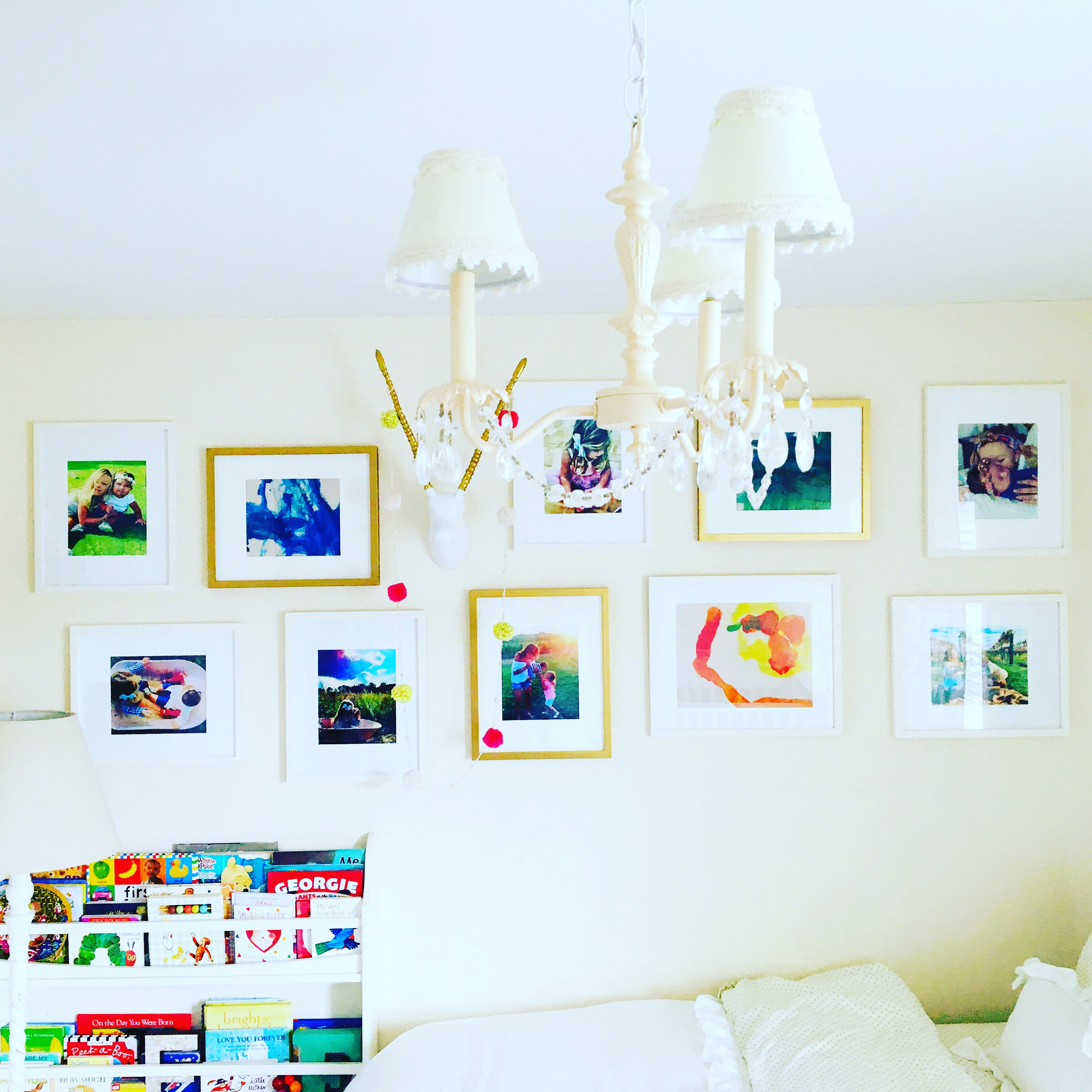 How to Create a Great Gallery Wall in a Kids\' Room - pumpkin + rose