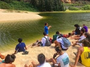 Kamehameha School's Ipu Kukui Program Visits MPW