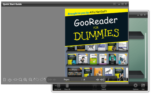 Reading ebook GooReader