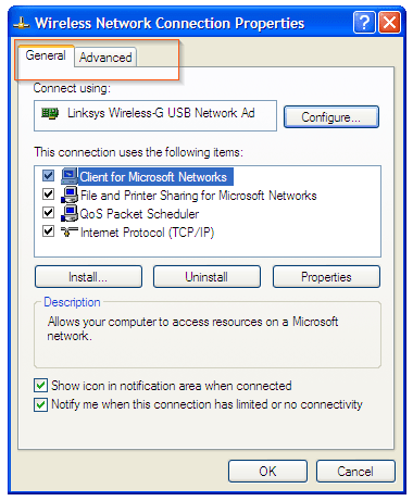Windows Xp - No Wireless network tab