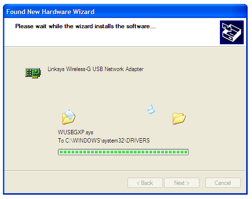 Windows Xp -  Wireless drivers installing