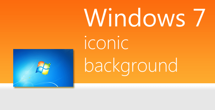 Iconic Windows 7 default background