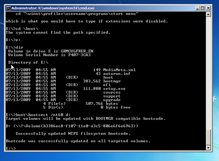 Uninstall Windows 8 - Windows 7 Command Prompt - Fix boot