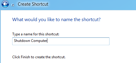 Name shortcut