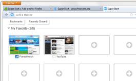 Super Start - Firefox add-on