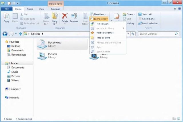 Ribbon - Pin to Start - Windows 8