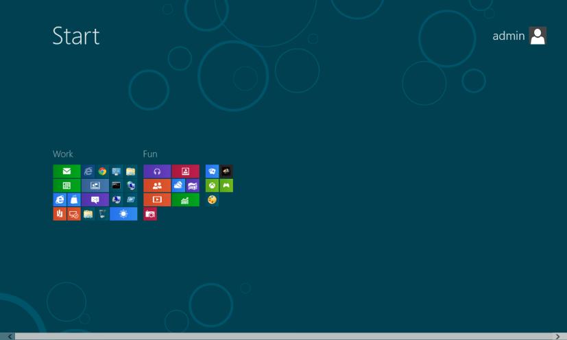 Semantic zoom - Start Screen - Windows 8
