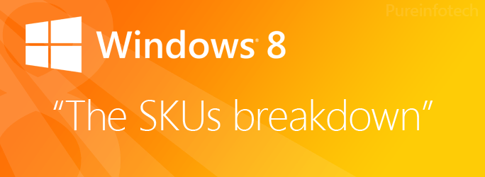 Windows 8 vs. Windows 8 Pro vs. Windows RT vs. Windows 8 Enterprise SKUs