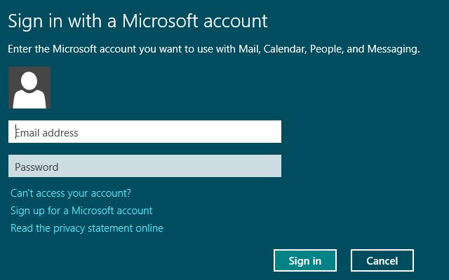 Mail Windows 8 app