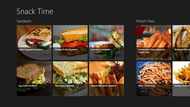 snack time win8 app