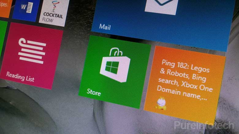 Windows Store tile in the Start screen Windows 8.1