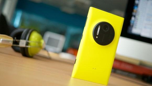 Yellow Nokia Lumia Windows Phone