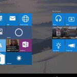 Windows 10 build 10125 in Tablet mode
