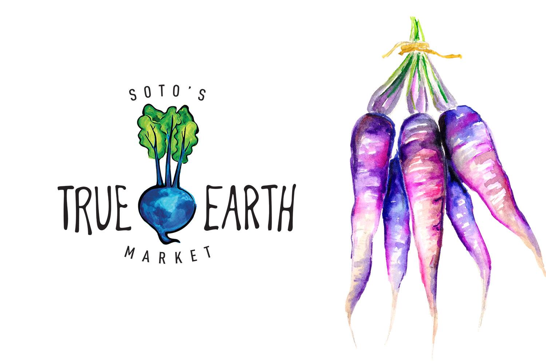 true earth healthfood market cambria, ca - healthfood logo