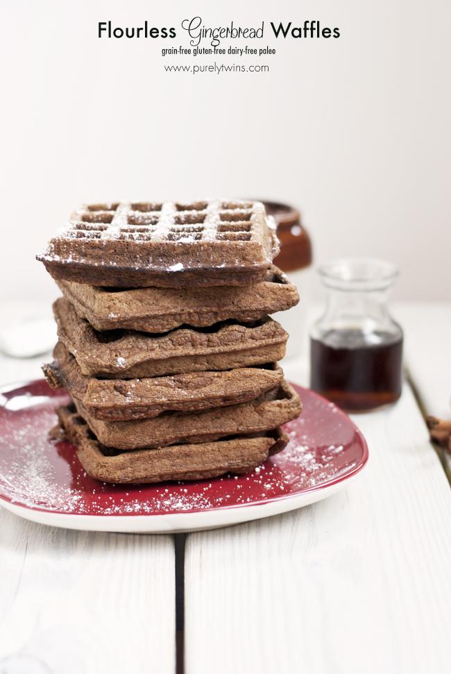 Paleo Gingerbread Waffles