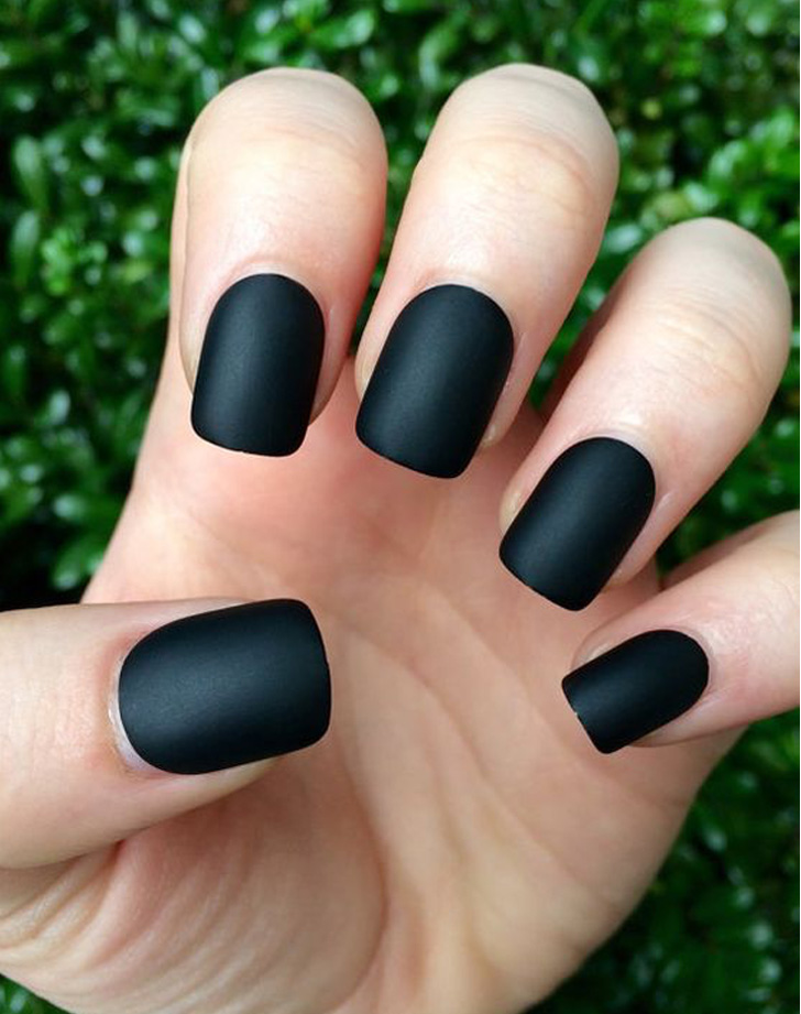 8 Matte Nail Trends That Look Incredible   PureWow Black Matte