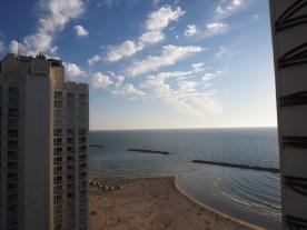 Hotelzimmerblick in Tel Aviv