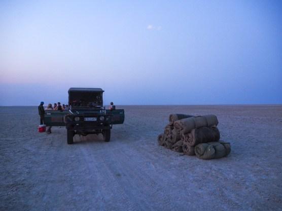 Nachtlager in der Ntwetwe Pan