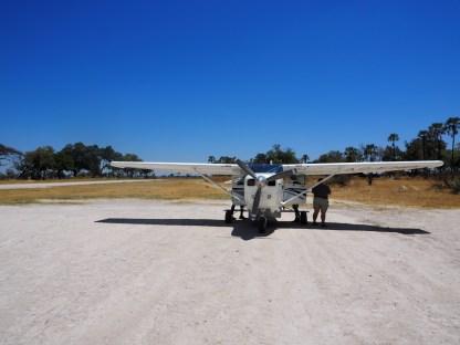 Unsere Propellermaschine über das Okavango Delta