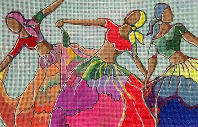 Three Dancers - Purple Palm Designs