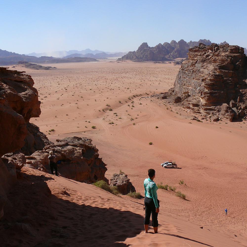 Petra and the pink sand desert of Jordan