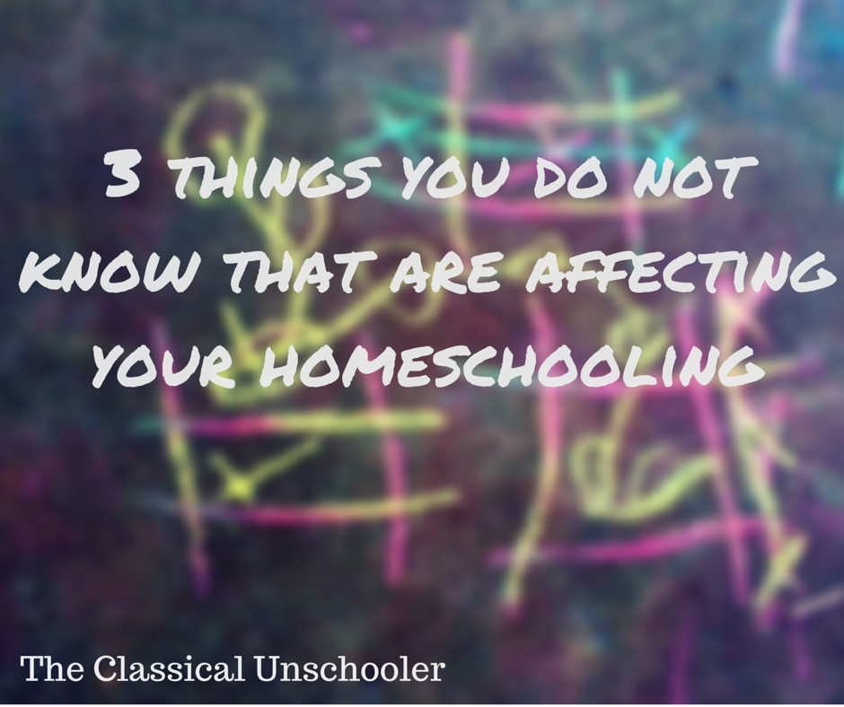 3 Things You Do Not Know That Are Affecting Your Homeschooling