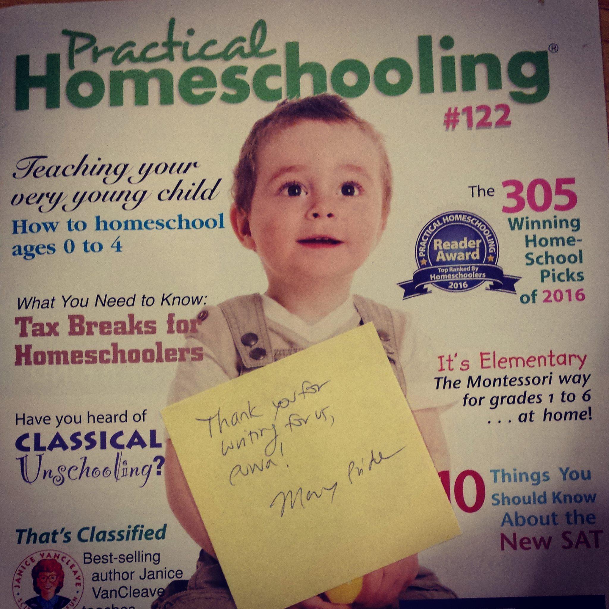 Now in Practical Homeschooling!