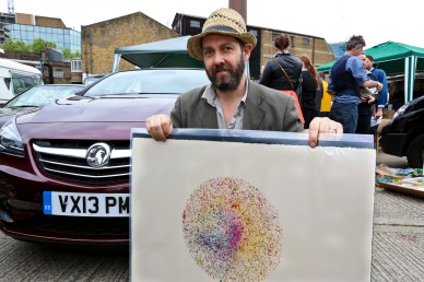 Nick Reynolds at the Vauxhall Art Car Boot Fair 2013 (20) (1)
