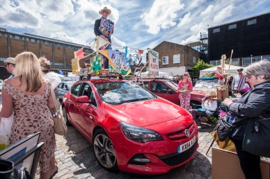 The Vauxhall Art Car Boot fair 2014 , Truman Brewery, Brick Lane , E1